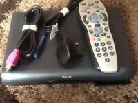 Slim sky hd box with remote and accessories