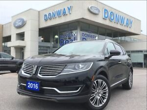 2016 Lincoln MKX Reserve   1 OWNER   ONLY 10,000KM'S   LOADED