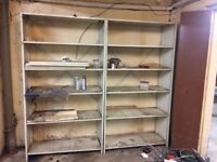 Metal shelving storage units