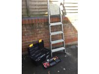 Stepladder and Toolbox