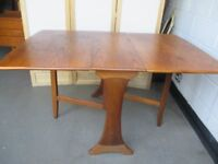 VINTAGE GPLAN G PLAN TEAK GATE LEG DROP LEAF DINING TABLE