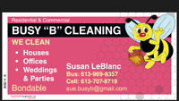 """Busy """" B """" Cleaning"""