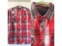 Men's Premium Workwear Red Colourful Check Shirt Size XL Ideal For Summer Holiday New