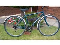Raleigh Pioneer Hybrid Bike..700C Wheels..Mudguards..Full Working Order with Good Brakes and Gears..