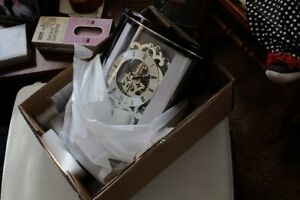 2 Bullova Quartz Mantle Clocks....New in Boxes