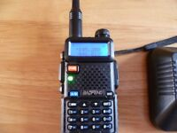 Baofeng UV-5R Handheld 2m 70cm Ham Radio Amateur Scanner Transceiver Two Way Walkie Talkie