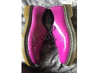 Pink/ purple leather Dr Martens Size 8