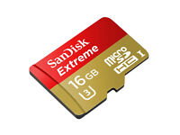 16 GB SanDisk Extreme 90MBs MicroSD 4K Ready Memory Card