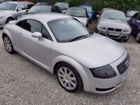 Audi TT 1.8 T Quattro 3dr, FSH. HPI CLEAR. CAMBELT REPLACED.LEATHER SEATS. 2 KEYS.LADY OWNER 5 YEARS