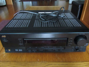 Gently used JVC RX-5030VBK 5.1 Channel 100 Watt A/V Receiver in