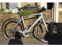 Ladies Hybrid Liv/Giant Dash Bike 2014 Silver with Medium Sized Frame