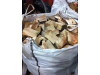 Firewood for sale. Well seasoned hardwood (logs, blocks, tree, timber, fire)