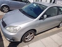 2002 Toyota Corolla 1.4 petrol VVT-i T3 comes with a set of 4 toyota 4 stud alloy wheels and tyres
