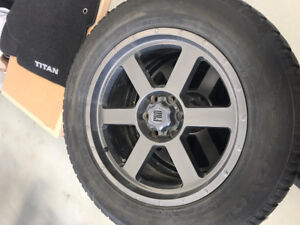 "Custom 20"" rims & winter tires from 2014 Nissan Titan 275/60R20"