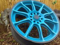 "17"" custom painted alloys"