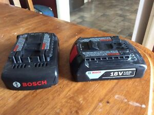 Bosch cordless drill batteries and charger only