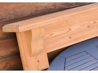 Solid Pine Mantel Shelf. 1067mm wide.