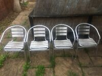 Outdoor chrome chairs