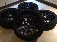 "19"" BMW 359 M STYLE ALLOY WHEELS 5x120 MV3 MV4 313 M3 M4 M5 BLACK CSL 1 2 3 4 5 Series Msport"