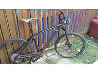Custom built 19 inch hardtail mountain bike with loads of carbon fibre parts