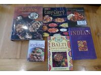 Collection of 6 indian curry cook books - bargin TREAD the globe