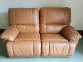Italian Leather Sofa Fully Reclining