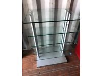 Lovely Solid Glass Display Stand. Excellent Condition. Can Deliver!I
