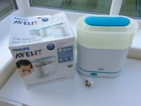 Philips Avent 3 in 1 electric steam steriliser. Box available.
