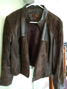 Danier suede and leather jacket