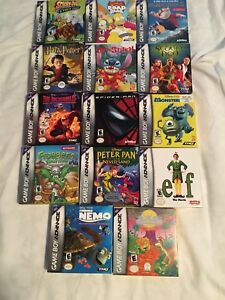 Mint condition GBA games (Mint boxes + booklets included)