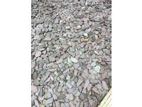 Garden slate chippings