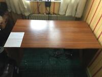 Large two piece computer desk