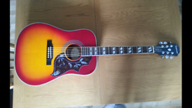 Epiphone hummingbird hs acoustic guitar