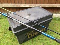 Diawa Sea Fishing Tackle Box / Seat & 12ft Beach Rod