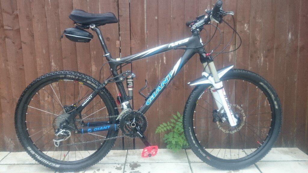 Giant NRS carbon full suspension mountain bike, medium carbon frame ...