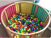 Large Wooden Playpen/Ball pit