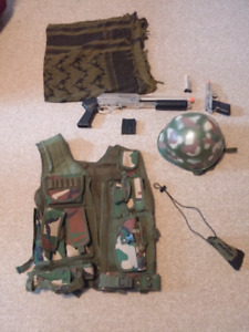 Assorted airsoft gear