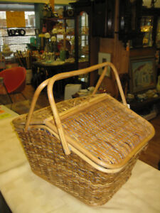 Picnic Basket -- FROM PAST TIMES Antiques & Coll - 1178 Albert