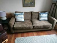 Sofa; brown and comfy