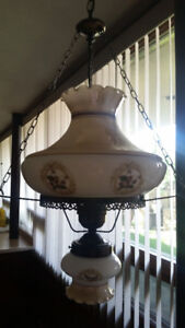 2 Antique Hanging Lamps