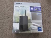 Belkin N Wireless Modem - new in the box and unused