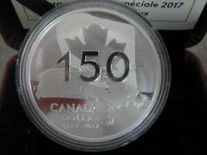 "2017 Canada 150 Proof Silver Dollar ""Our Home and Native Land"""