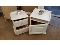 2 x bedside cabinets/solid pine