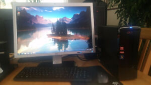 Acer Aspire X3470 Computer Dell 22in monitor