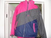 Ski jacket, boots and salopettes for girl aged between 8-11