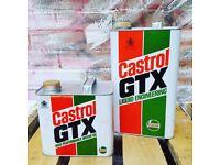 Vintage Castrol Cans