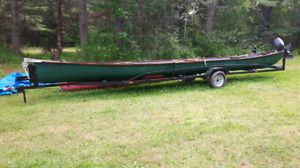 Canoe for sale...trailer and motor