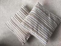 x2 Cushions - Great Condition! Cream & Brown