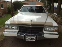 1990 WHITE Cadillac Brougham d'Elegance