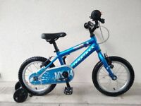 "FREE Bell with (2613) 14"" Aluminium RIDGEBACK Boys Girls Bike Bicycle+STABILISERS Age: 3-5, 95-110cm"